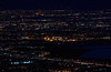 A close-up of the East Bay's lights. Interstate 680 is in the foreground.