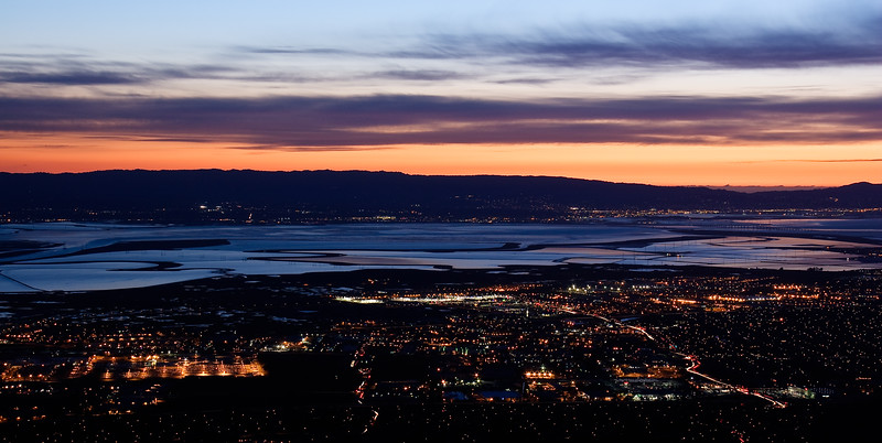 The East Bay's city lights.