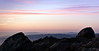 A northeast view from Mission Peak at sunset.