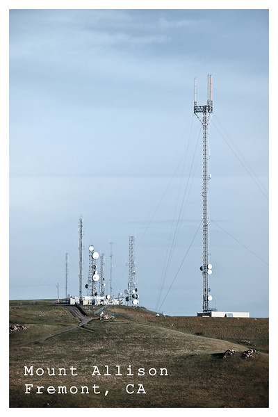 ...so I took photos of the television towers on Mount Allison, ...