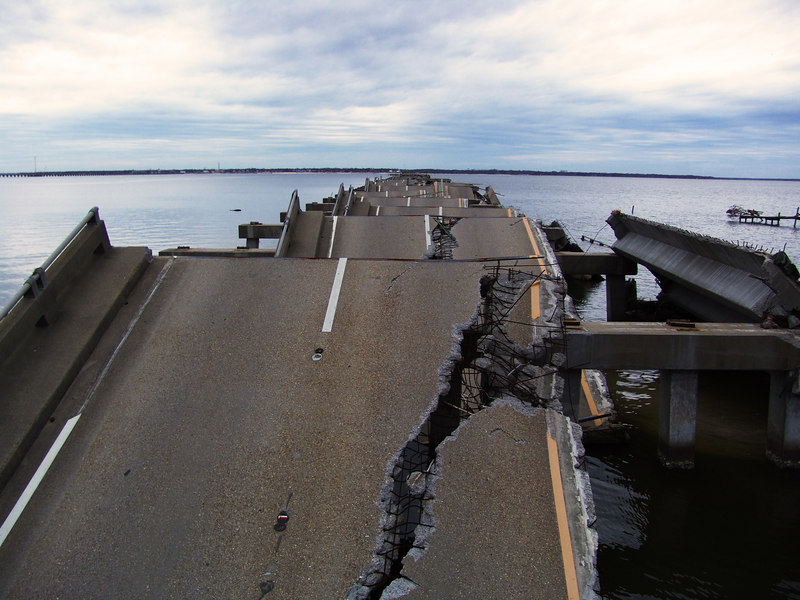 This bridge spanned St Louis Bay between Pass Christian and Bay St Louis until wrecked by Katrina.