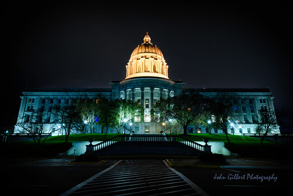 Missouri State Capitol view from the north side.  Also referred to as the front of the building.
