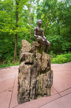 George Washington Carver Childhood Statue at his National Monument