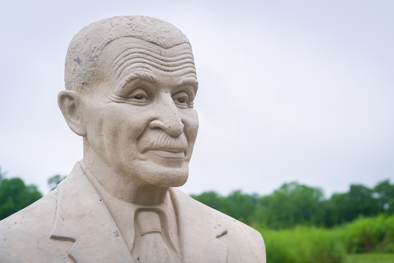 Statue to George Washington Carver at his National Monument