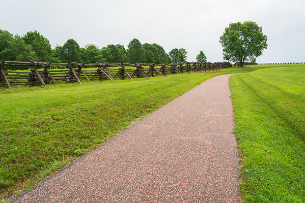 Trail and Fence at Wilson's Creek National Battlefield