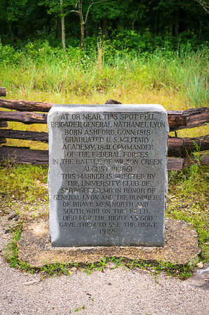 Monument to General Nathaniel Lyon at Wilson's Creek National Battlefield
