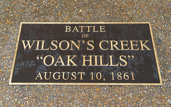 Plaque at Wilson's Creek National Battlefield