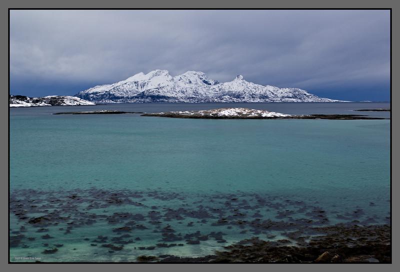 Green and blue II<br /> Landegode seen from Mjelle, Nordland