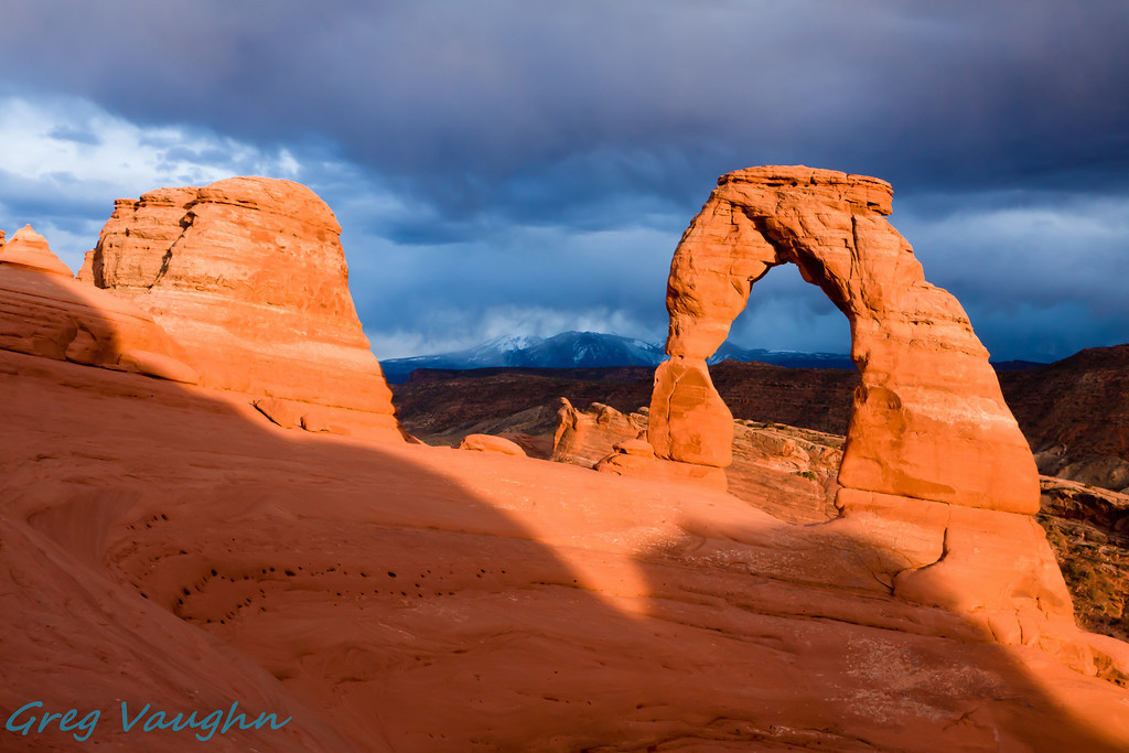 Delicate Arch at Sunset in Arches NP, Utah