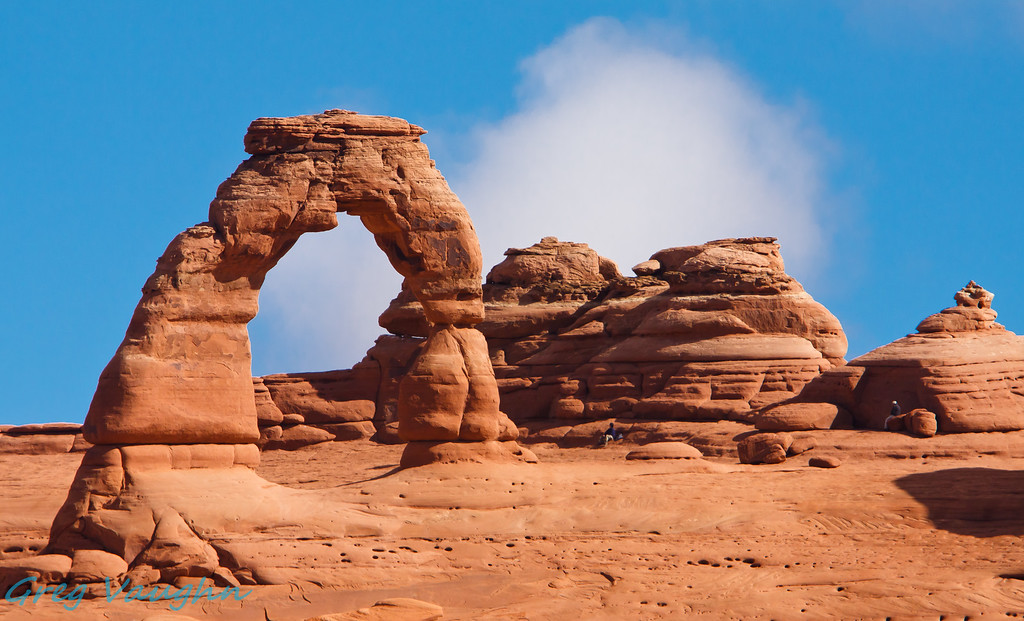 Delicate Arch from Lookout View at Arches NP, Utah