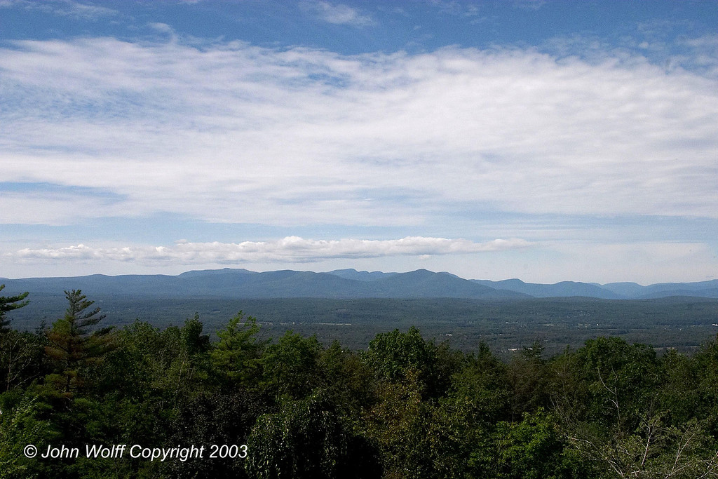 <b> Looking out at the Shawangunk Mountains from the porch of the Mountain House </b>