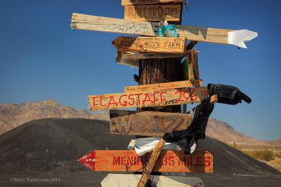 Interesting road side sign in the Mojave Desert
