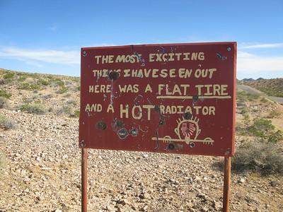 Humorous Sign Mojave Desert