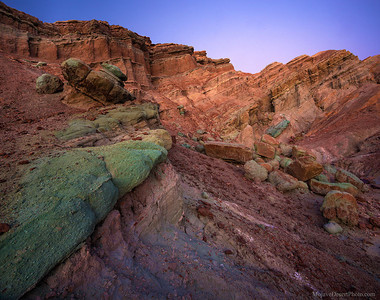 Wild geological and colorful badlands in the Mojave Desert!