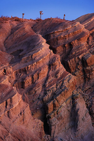 Gold Trimmed Cliffs Mojave Desert