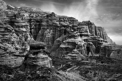 Celestial City BW - Red Rock Canyon State Park, California
