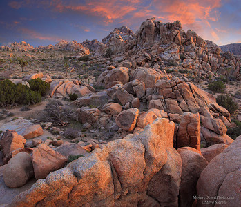 Wonderland of Rocks Hidden Valley at Joshua Tree National Park.