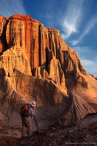 Photographer in Red Rock Canyon State Park California