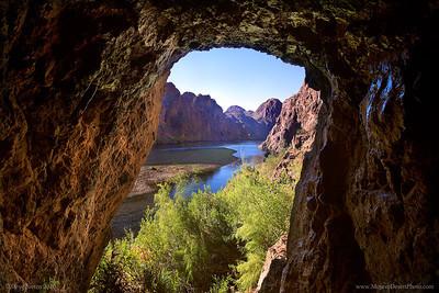 Sauna Cave in Black Canyon, Lake Mead, Mojave Desert, colorado river, Nevada Arizona