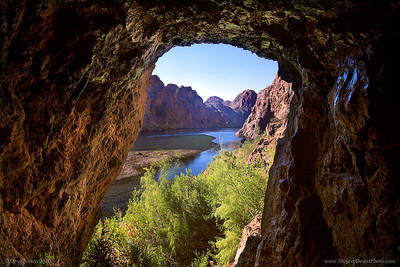 Sauna Cave in Black Canyon, Lake Mead, Mojave Desert, colorado river, Nevada Arizona
