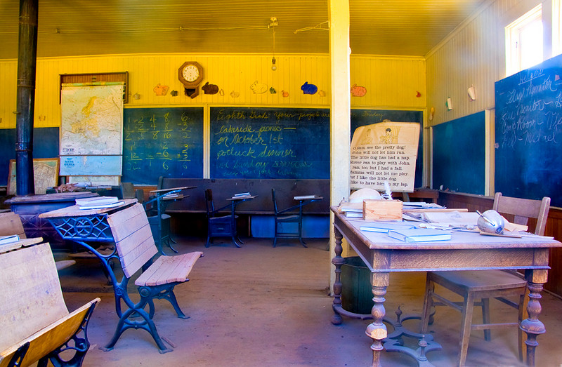 Bodie classroom.   I think I see a ghost behind teachers desk!