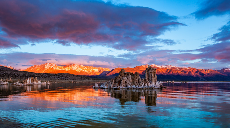 Mono Lake and High Sierra, High Sierra on fire