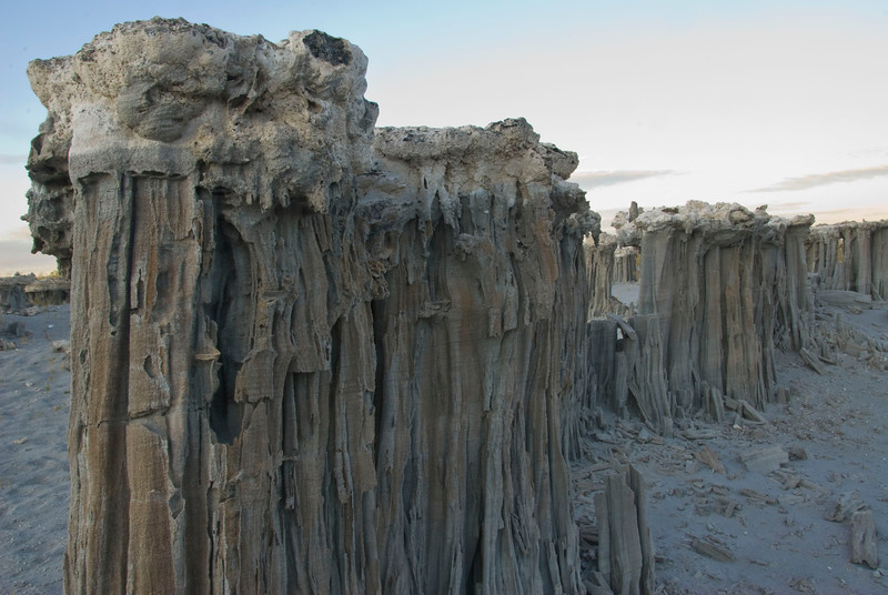 Tufas in a row