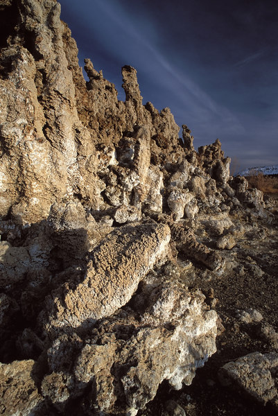 Afternoon light on Tufa structures.  Mono Lake, California