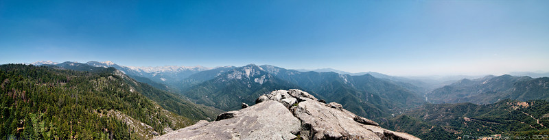 Moro Rock 13-Shot Panorama.  Sequoia National Park