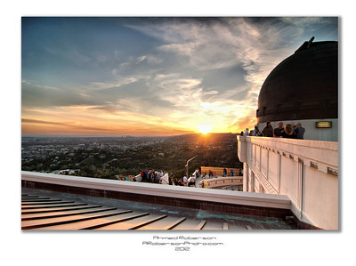 Griffith Observatory Sunset from the Roof
