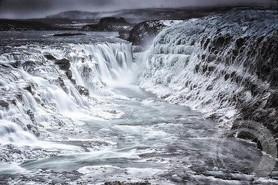 Upper falls at Gulfoss.
