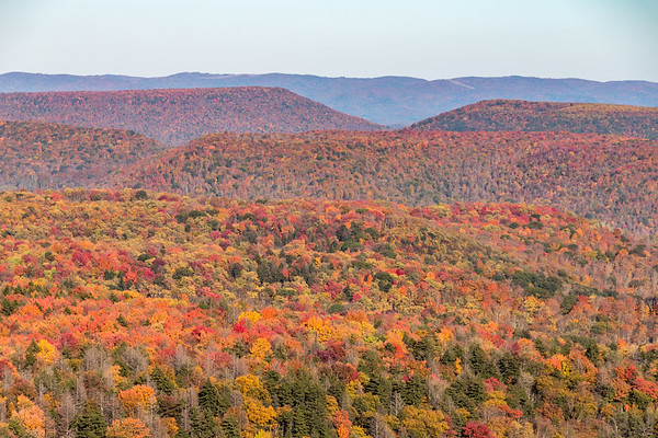 A patchwork of Fall Colors on the Highland Scenic Highway