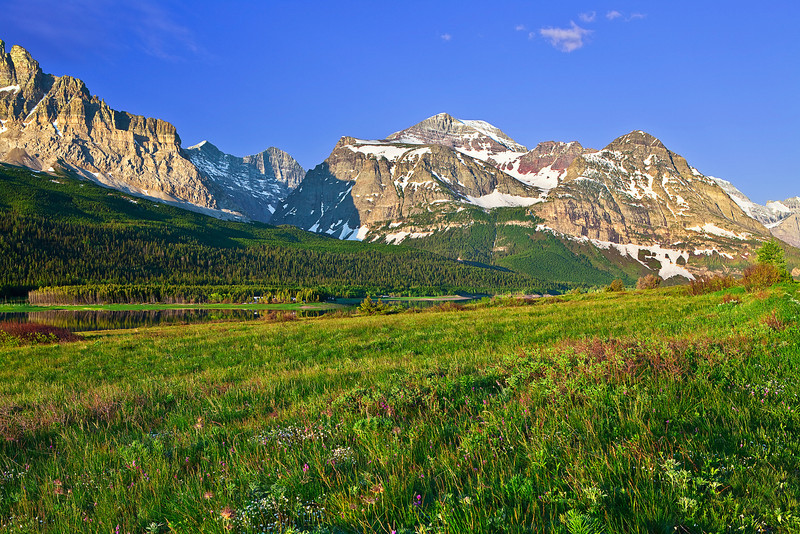 Montana, Glacier National Park, Many Glaciers,  Landscape, 蒙大拿, 冰川国家公园, 风景