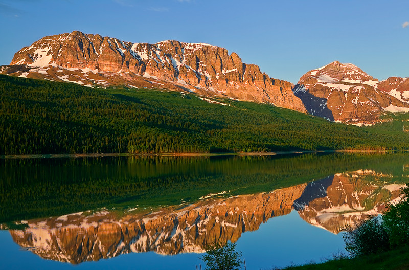 Montana, Glacier National Park, Many Glaciers, Lake Sherburne, Reflection, Landscape, 蒙大拿, 冰川国家公园, 风景