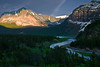 Montana, Glacier National Park, Many Glaciers, Sunset, Landscape, 蒙大拿, 冰川国家公园, 风景