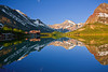Montana, Glacier National Park, Many Glaciers, Swiftcurrent Lake, Reflection, Landscape, 蒙大拿, 冰川国家公园, 风景