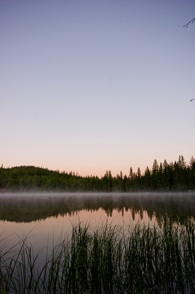 Dawn at Crayfish Lake, Okanogan Forest Washington