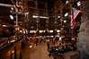 Interior of the Firehole Inn, the most impressive log building in America and a national treasure