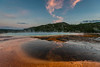 Sunset at the Grand Prismatic Spring, Midway Geyser Basin