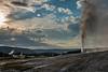 The Firehole geyser basin and Beehive geyser