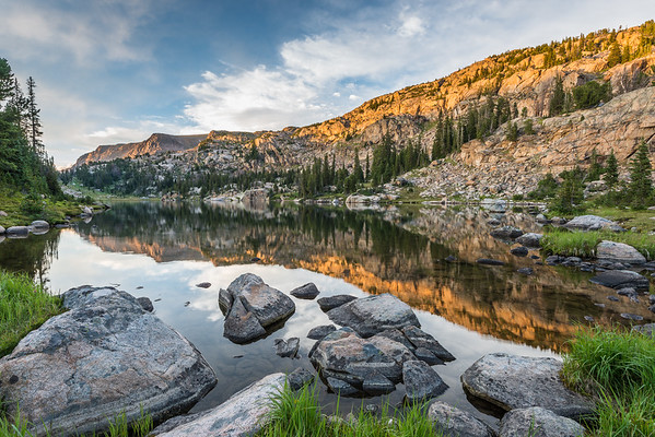 Alpenglow at Jeff Lake