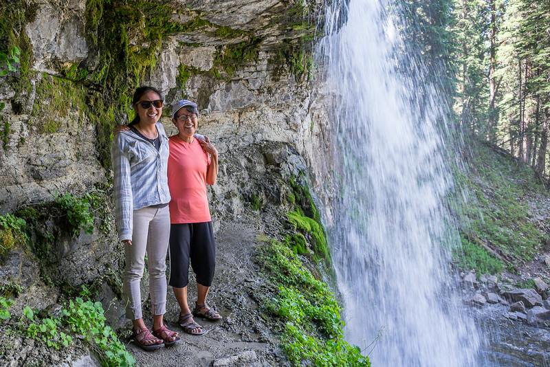 Sarah and Barbara at Bridal Falls