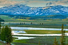 Evening in the Hayden Valley, Yellowstone River