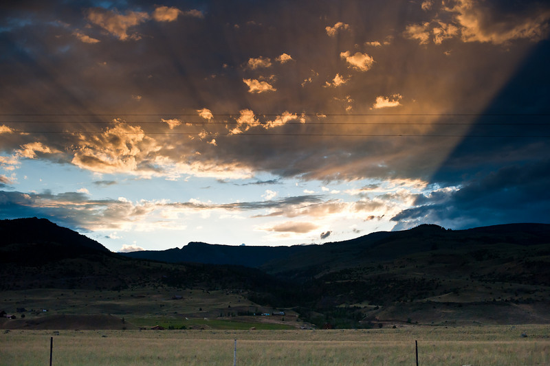 just another highway sunset in paradise - Paradise Valley, Montana