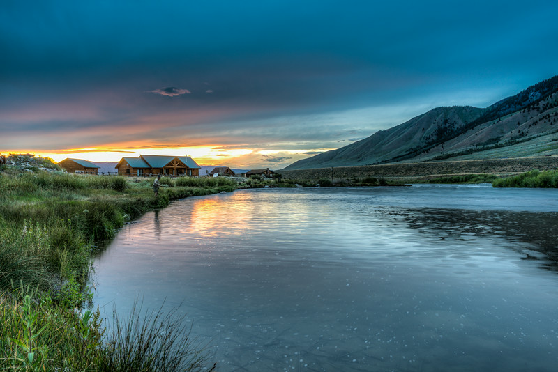 Sunset at the Colonel's pool, Madison River