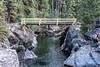 The stock bridge over Hellroaring Creek