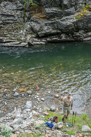 Scott at Hellroaring Creek, Montana - a pool that is seldom fished