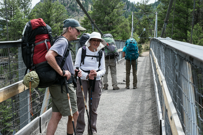 suspension bridge over the Yellowstone River