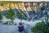 Mary and the Yellowstone canyon