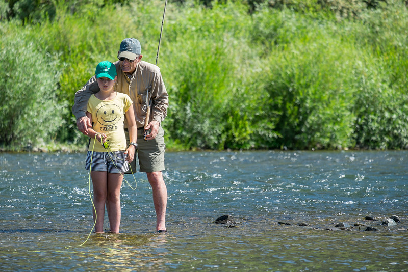 casting lesson on the Madison River